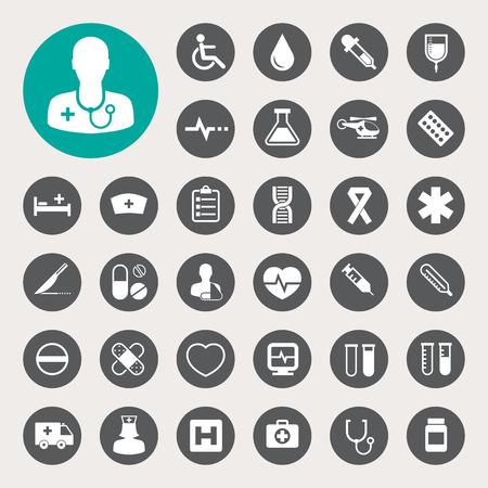 Illustration pour Medical icons set - image libre de droit