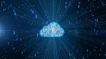 Photo pour Cyber security digital data and conceptual futuristic information technology of big data cloud computing using artificial intelligence AI - image libre de droit