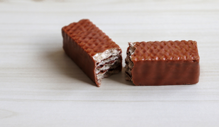 Photo for Chocolate two pieces on the table. - Royalty Free Image