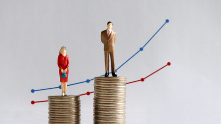 Photo for The concept of continuing gender pay gap. - Royalty Free Image