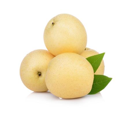 Photo pour asian-pear fruit on white background - image libre de droit