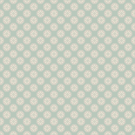 Ilustración de Floral vector seamless pattern with dots (tiling). Pink, white and blue shabby color. Endless texture can be used for printing onto fabric and paper or scrap booking. Flower abstract shape. - Imagen libre de derechos