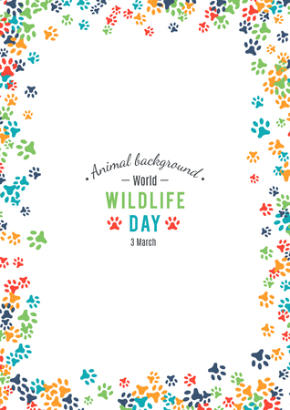 Illustration pour Vector illustration of world wildlife day. - image libre de droit