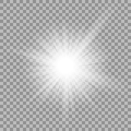 Illustration pour White glowing light burst explosion with transparent. - image libre de droit
