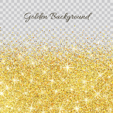 Ilustración de Gold glitter texture isolated on transparent background. - Imagen libre de derechos