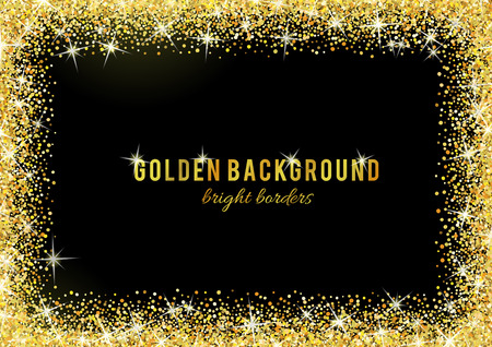 Illustration for Gold glitter texture isolated on black background. - Royalty Free Image