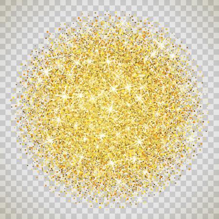 Illustration pour Gold glitter texture isolated on transparent background. - image libre de droit