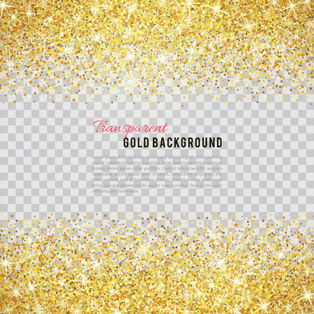 Illustration pour Gold glitter texture isolated on transparent background. - image libre de droit