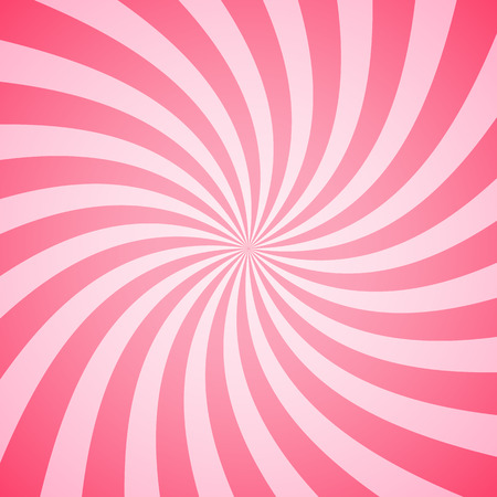 Illustration pour Swirling radial pattern background. Vector illustration for swirl design. Vortex starburst spiral twirl square. Helix rotation rays. Converging psychadelic scalable stripes. Fun sun light beams. - image libre de droit