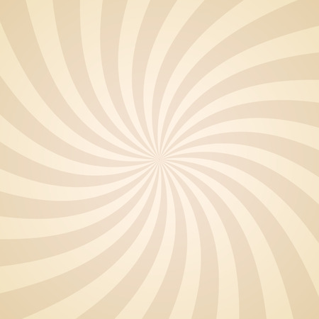 Illustration for Swirling radial pattern background. Vector illustration for swirl design. Vortex starburst spiral twirl square. Helix rotation rays. Converging psychadelic scalable stripes. Fun sun light beams. - Royalty Free Image