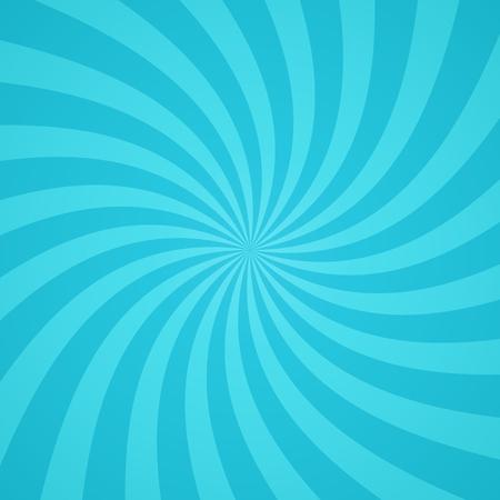 Ilustración de Swirling radial pattern background. Vector illustration for cute sky circus design. Vortex starburst spiral twirl square. Helix rotation rays. Converging blue scalable stripes. Fun sun light beams. - Imagen libre de derechos