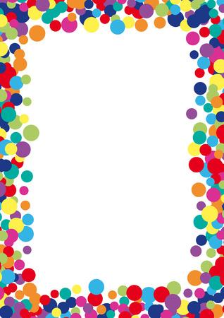 Illustration pour Colorful abstract spot background. Vector illustration for bright design. Art splash backdrop. Modern pattern decoration. Color holiday wallpaper. Fun dot card. Happy mood style. Fiesta drop paint - image libre de droit