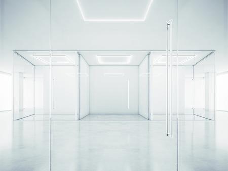 Foto de White office interior. 3D rendering - Imagen libre de derechos