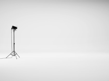 Photo for Photo studio with equipment. 3D rendering - Royalty Free Image