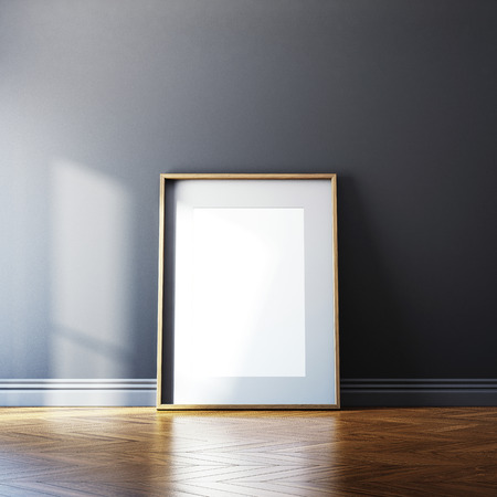 Photo pour Blank canvas on a wall. 3D rendering - image libre de droit