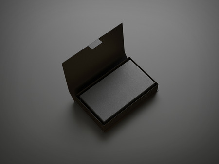 Photo pour Black business card in the box - image libre de droit
