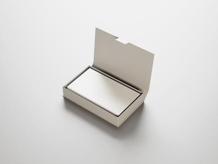 Foto de White business cards in the white box - Imagen libre de derechos