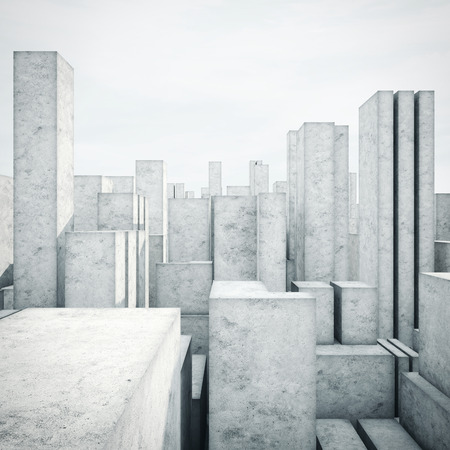 Photo for Abstract model of a city - Royalty Free Image