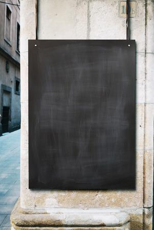 Photo for Chalk board mockup - Royalty Free Image