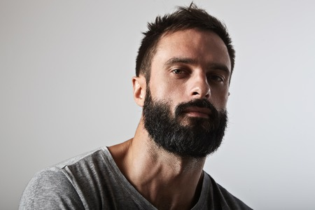 Foto de Close-up portrait of a handsome bearded man - Imagen libre de derechos