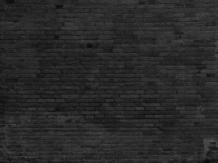 Foto de Part of black painted brick wall, horizont. - Imagen libre de derechos