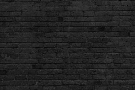 Photo pour Part of black painted brick wall, horizontal. - image libre de droit
