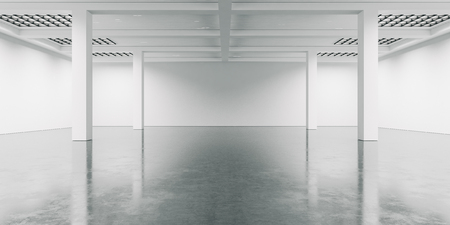 Photo for Open space interior with concrete floor.  Wide - Royalty Free Image