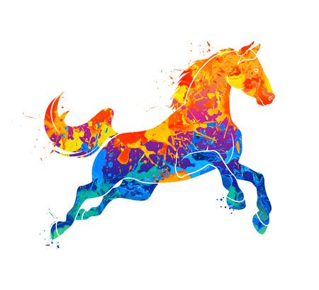Ilustración de Galloping horse Abstract - Imagen libre de derechos