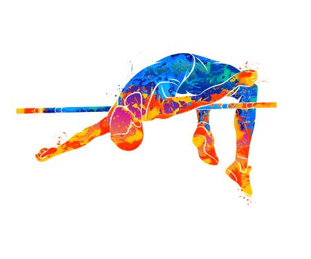 Illustration pour High Jump Abstract - image libre de droit