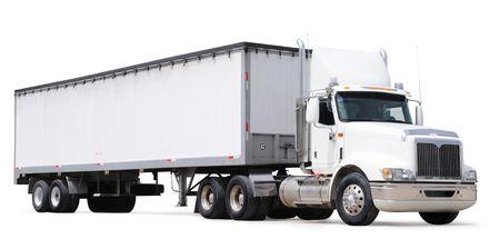 Cargo truck. Isolated