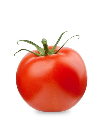 Foto de Fresh red tomato. Isolated on white background - Imagen libre de derechos