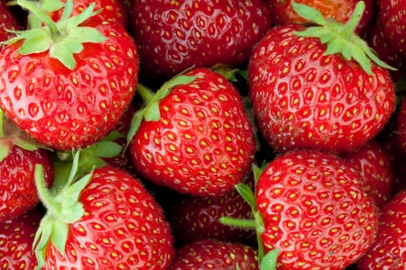 Photo for Fresh ripe strawberry closeup wallpaper - Royalty Free Image