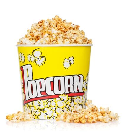 Foto de Popcorn box. Isolated on white background - Imagen libre de derechos