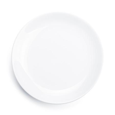 Photo pour Empty plate. Isolated on white background - image libre de droit