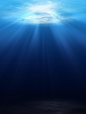 Photo pour Underwater scene background with sunlight - image libre de droit