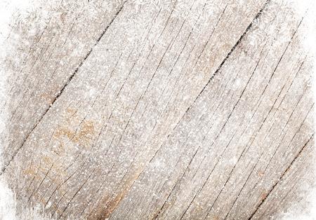 Foto de Old wood texture with snow christmas background - Imagen libre de derechos