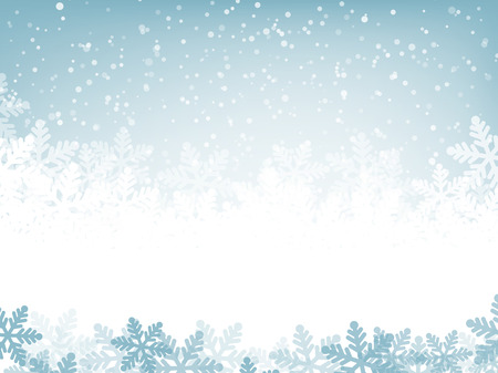 Illustration for Abstract blue christmas background with snowflakes - Royalty Free Image