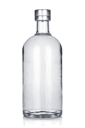 Photo pour Bottle of russian vodka. Isolated on white background - image libre de droit