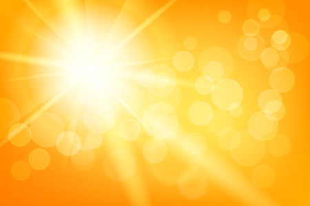 Illustration pour Nature sunny abstract summer with sun and bokeh - image libre de droit
