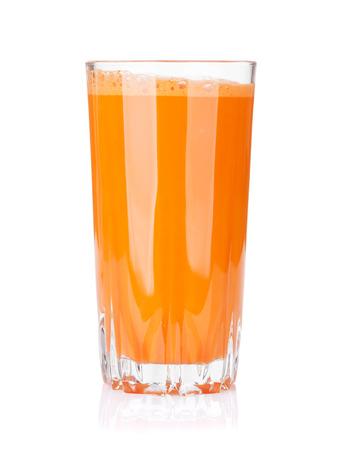 Foto de Fresh vegetable smoothie. Carrot juice. Isolated on white background - Imagen libre de derechos