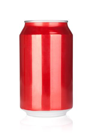 Foto de Aluminum soda can. Isolated on white background - Imagen libre de derechos