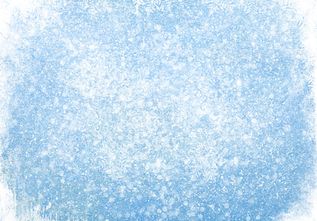 Foto de Blue wood texture with snow christmas background - Imagen libre de derechos