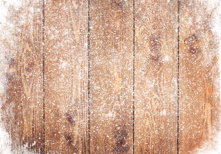 Photo pour Old wood texture with snow christmas background - image libre de droit