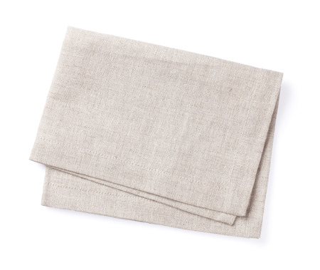 Photo pour Kitchen towel. Isolated on white background - image libre de droit