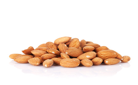 Photo for Almonds nuts. Isolated on white background - Royalty Free Image