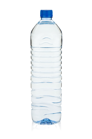 Foto de Soda water bottle. Isolated on white background - Imagen libre de derechos
