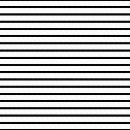 Photo pour Thin Black and White Horizontal Striped Textured Fabric that is seamless and repeats - image libre de droit