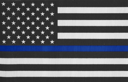 Photo pour United States of America thin blue line flag - image libre de droit