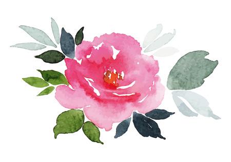 Illustration pour Watercolor greeting card flower - image libre de droit