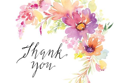 Ilustración de Watercolor greeting card flowers. Handmade. - Imagen libre de derechos